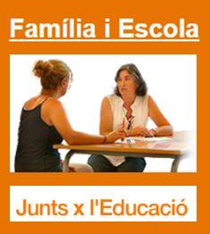 """Nou web """"Família i Escola. Junts x l'Educació"""""""